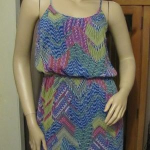 Emma & Michele Blue, Green and Pink Maxi Dress 8